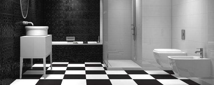 carrelage noir pour salle de bains